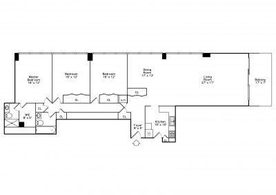 B Unit Floor Plan